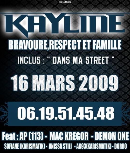Kayline - BRAVOURE RESPECT FAMILLE