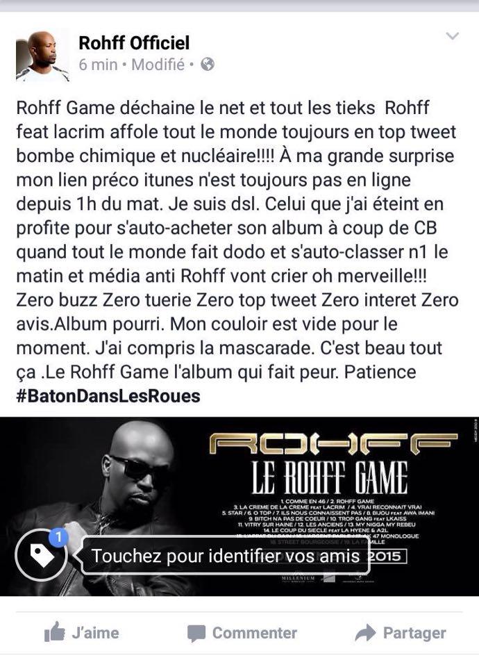 Post de Rohff