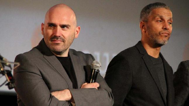 A gauche Julien Leclercq, réalisateur du film BRAQUEURS