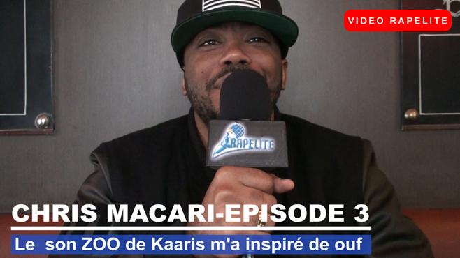 """Chris Macari """"Le son Zoo de Kaaris m'a inspiré de ouf"""""""