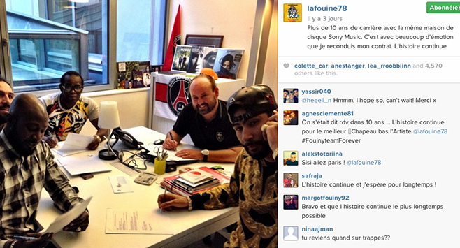 La Fouine reconduit son contrat chez Sony Music