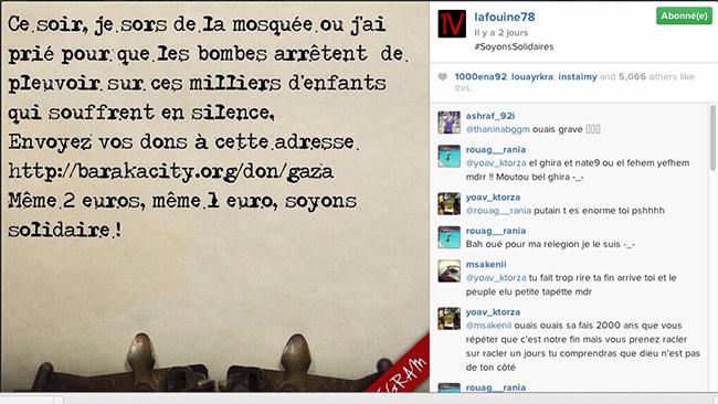 La Fouine sur Instagram