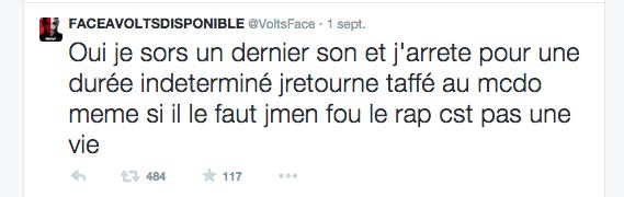 Volts Face sur Twitter
