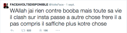 Volts Face sur Twitter