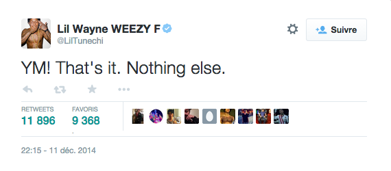 Lil Wayne sur Twitter