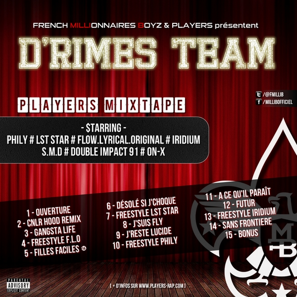Le groupe de rap PLAYERS nouvelle mixtape intitulé D'Rimes Team