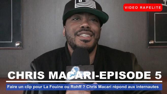 Faire un clip pour La Fouine ou Rohff ? Chris Macari répond aux internautes