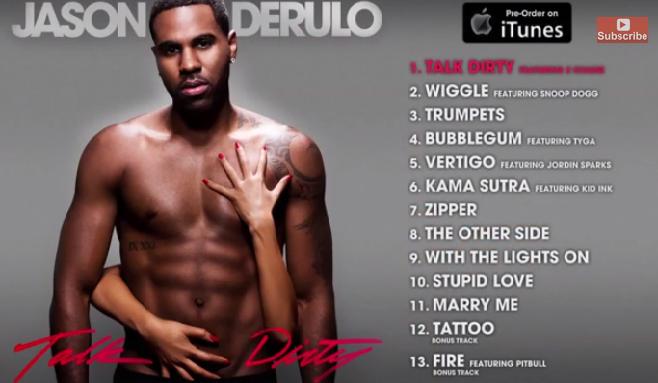Jason Derulo dévoile son album en intégralité sur la plateforme Youtube