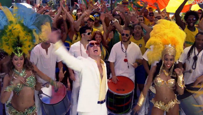 Pitbull et Jennifer Lopez dévoilent le clip officiel de la Coupe Du Monde de Football 2014