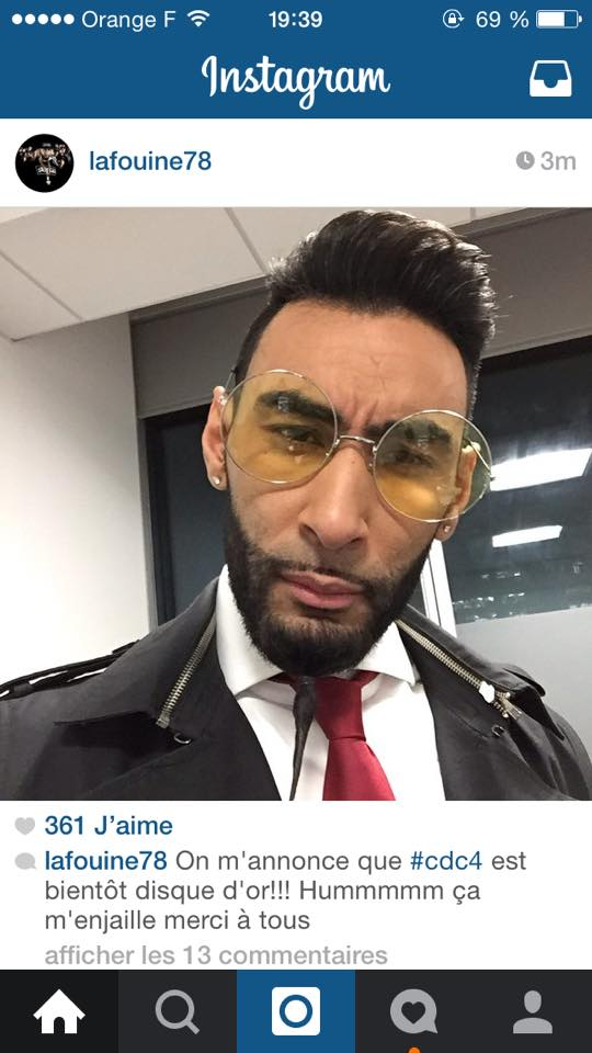 Post Instagram La Fouine