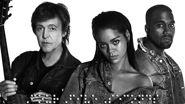 « FourFiveSeconds » le nouveau clip de Rihanna avec Kanye West et Paul McCartney
