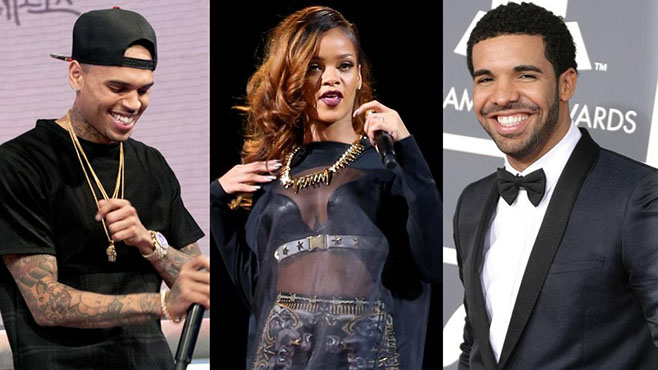 Chris Brown - Rihanna -Drake