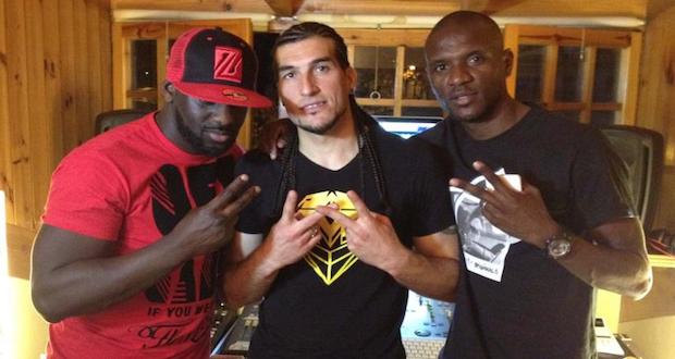Sefyu, avec Pinto et Abidal en studio
