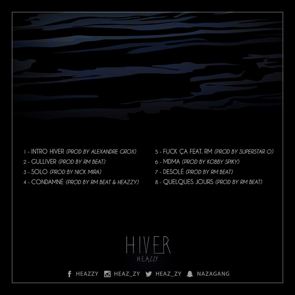 Tracklist HIVER