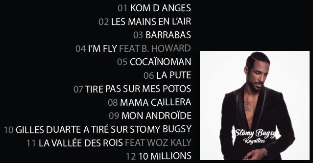 Tracklist du nouvel album de Stomy Bugsy