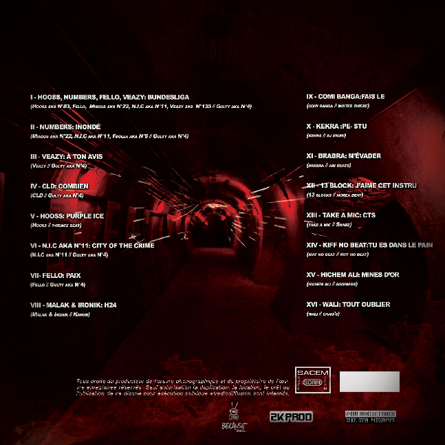 Tracklisting COMPILE PIEGE