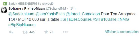 Tweet Sofiane