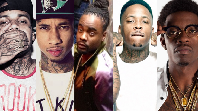Kid Ink, Tyga, Wale, YG, & Rich Homie Quan