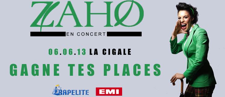 Zaho en concert à la Cigale le 6 juin : Gagne tes places