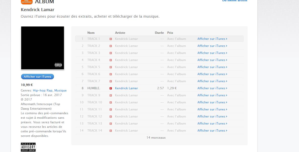 album Kendrick Lamar