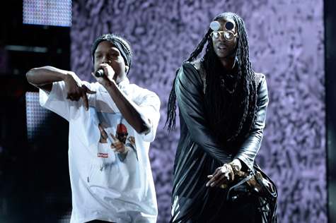 2 Chainz avec A$AP Rocky et Kendrick Lamar au BET AWARDS
