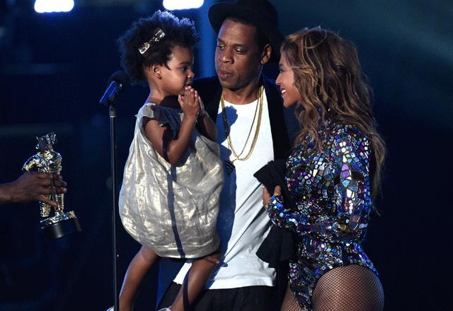 Blue Ivy, Jay Z et Beyonce