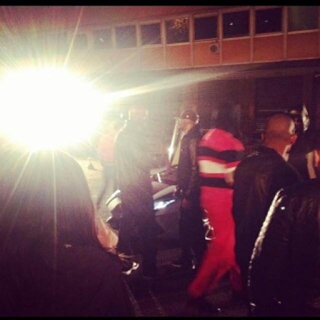 Booba  sur le tournage du clip 3G