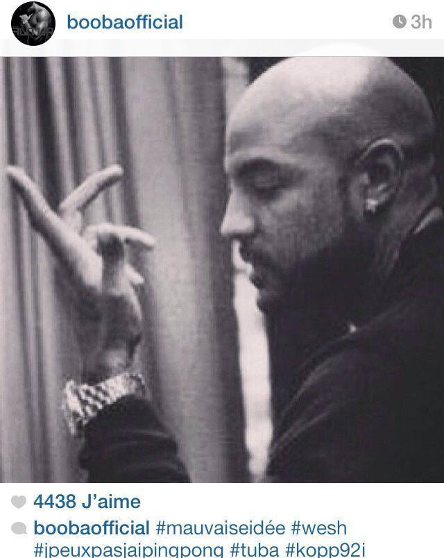 Booba se moque de Rohff sur Instagram