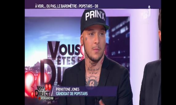 Prinxtone Jones, un ex candidat de Popstars était invité de l'émission VEED