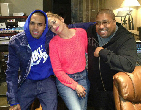 Jennifer Lopez en studio avec Chris Brown