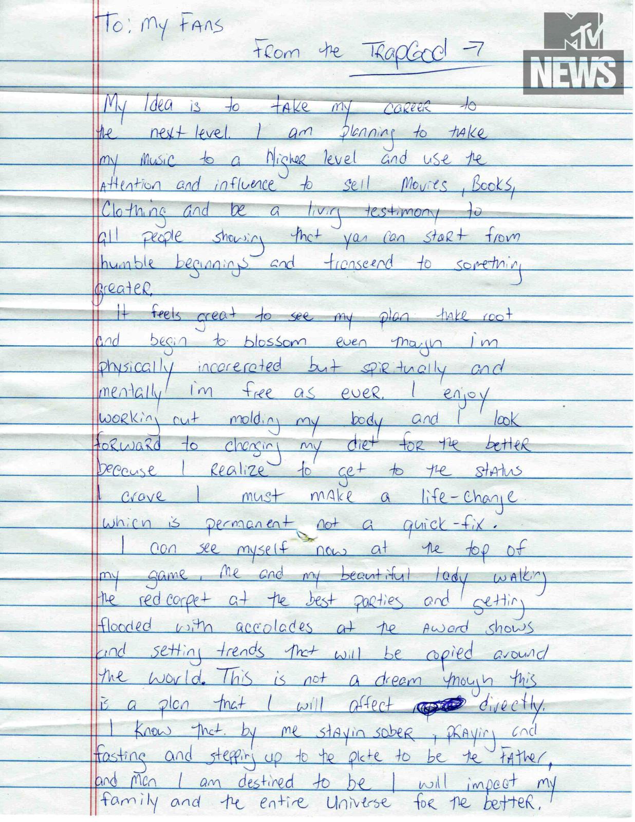 en photo  gucci mane en prison  u00e9crit une lettre  u00e0 ses fans