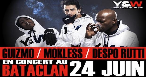 Guizmo, Despo Rutti et Mokless en concert au Bataclan !