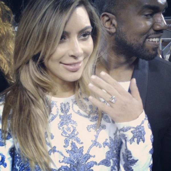La bague de Kim Kardashian