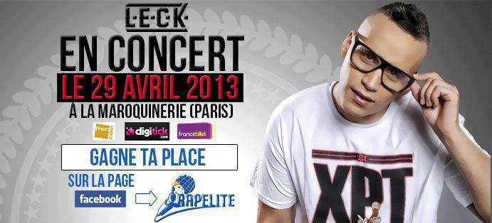 Jeux concours L.E.C.K – Concert à la Maroquinerie : les gagnants
