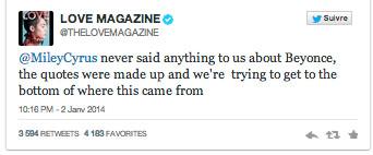 Love Magazine Tweets
