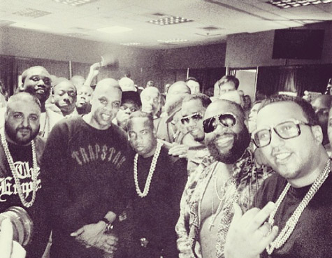 Jay Z ,Rick Ross, Diddy, French Montana, Meek Mill, DJ Khaled et Yo Gotti