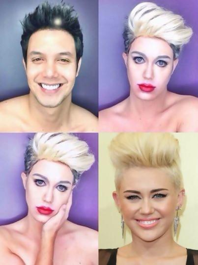 Paolo en Miley Cyrus