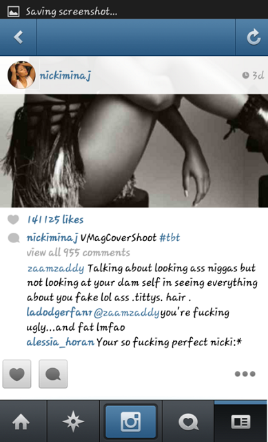 Le commentaire de la jeune femme qui clash Nicki Minaj