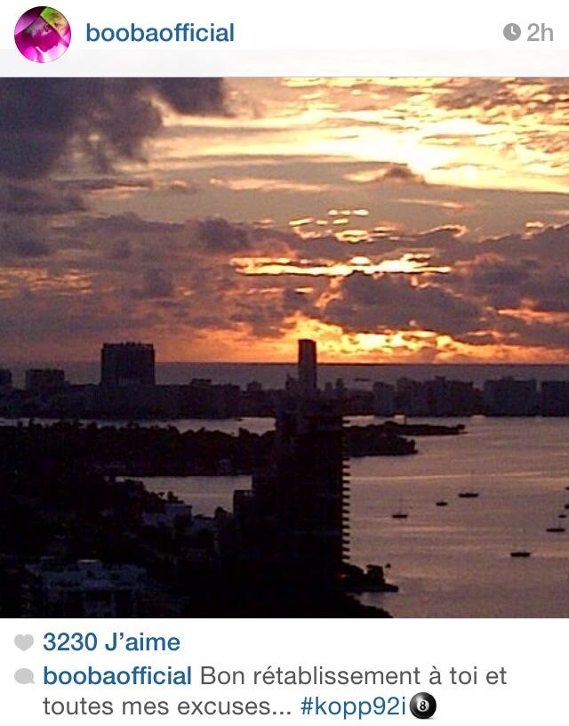 Booba réagit sur Instagram