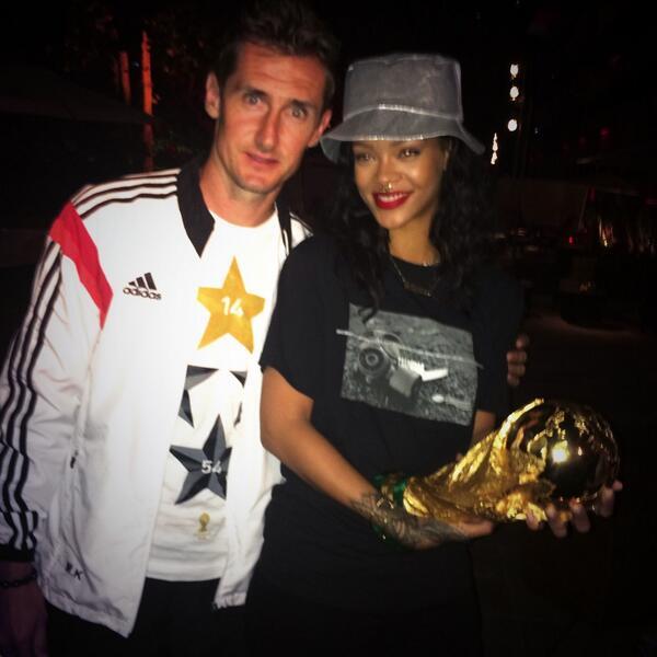 Rihanna Miroslav Klose