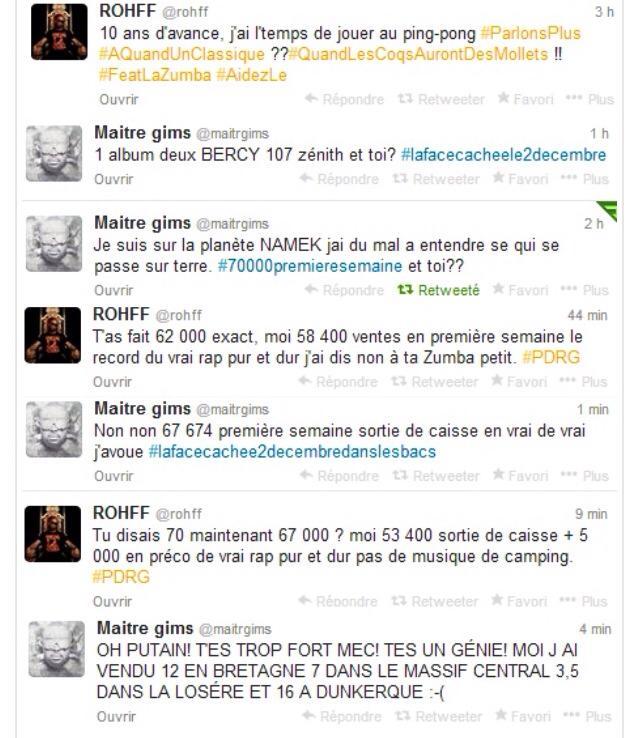 Rohff et Maitre Gims se clashent sur Twitter
