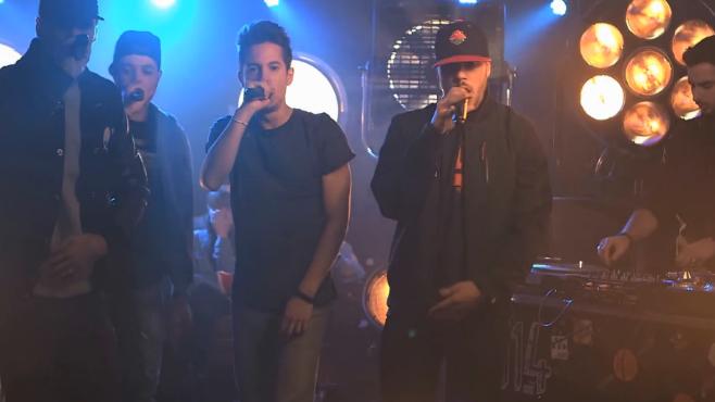 """Le S-Crew interprète le morceau """"Pour ceux"""" de la Mafia K'1 Fry en live dans Monte le son!"""