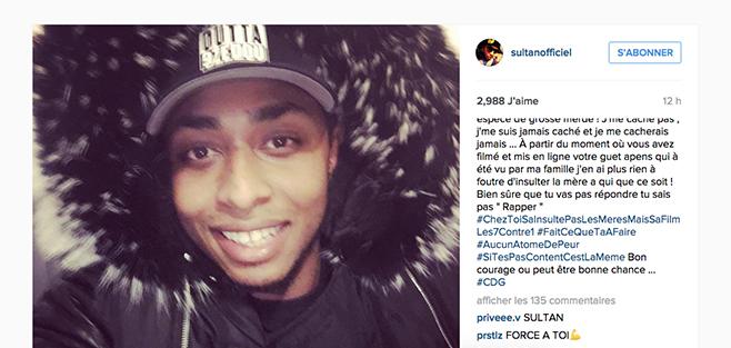 Sultan se justifie sur Instagram