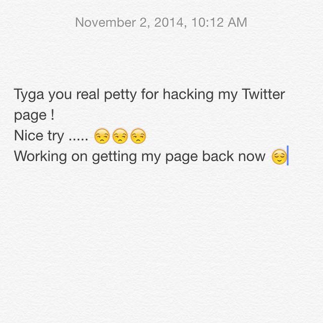 Blac Chyna hacked