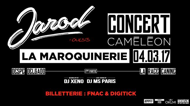 Concert de Jarod à La Maroquinerie