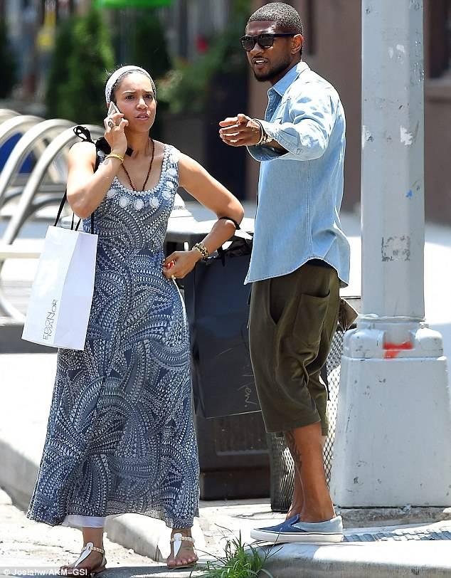 Grace Miguel et Usher