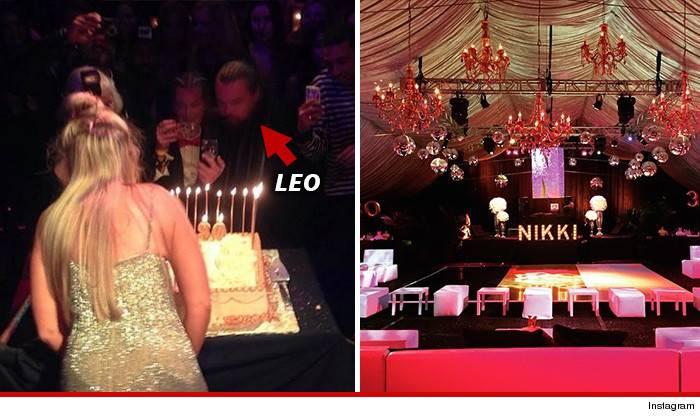 Leonardo Dicaprio à la soirée Playboy Mansion