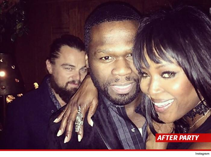 Leonardo Dicaprio à l'after-party de 50 Cent