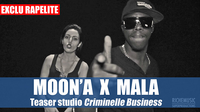 Moon'A et Mala du 92i en studio