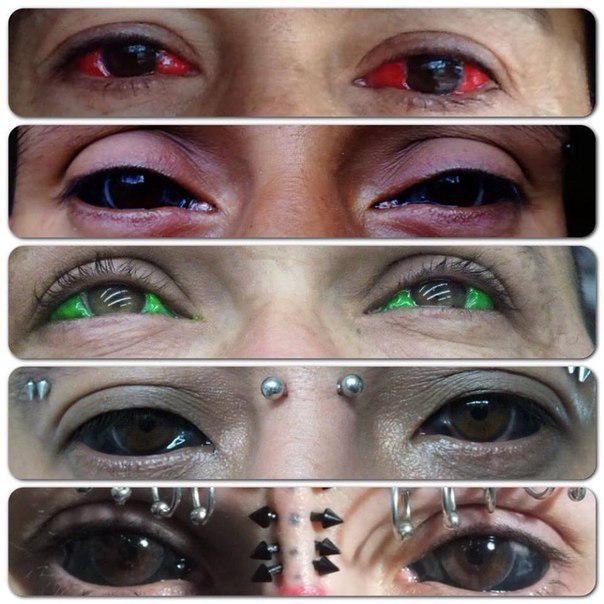Résultat du tatouage des yeux
